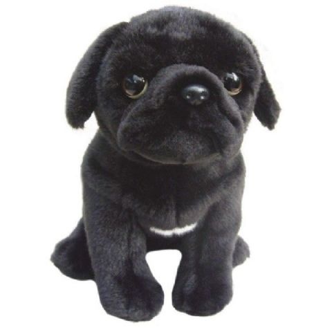 Black Pug, gift wrapped, not gift wrapped with or without engraved tag